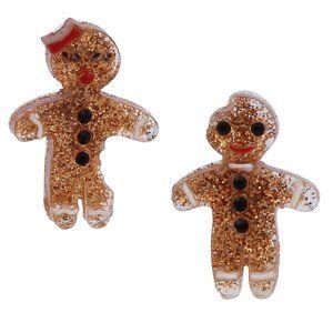 Betsey Johnson Festive Gingerbread Earrrings
